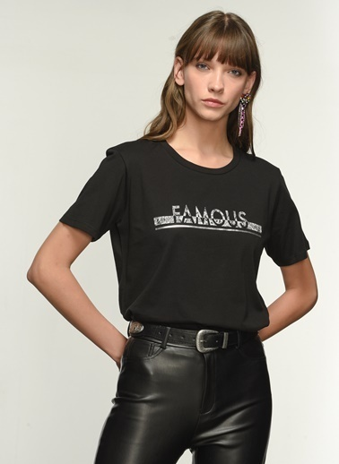 NGSTYLE Ngkaw21Ts0005 Baskılı  Tshirt Siyah